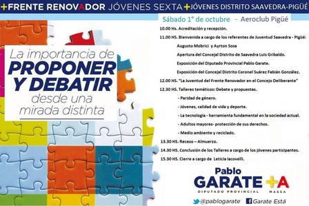 Encuentro de juventud y dirigencia seccional Frente Renovador en Pigüé