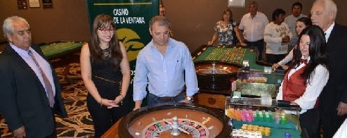 Primera bola en el Casino de Sierra de la Ventana