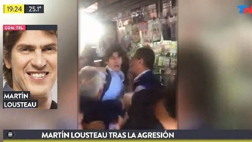Martin Lousteau violentamente agredido por manifestantes contra la reforma del Bapro