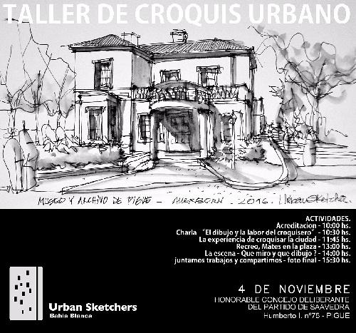 Taller de Croquis Urbano organizado por la Comisión de Patrimonio Distrital