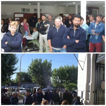 Municipales en huelga inician éste lunes la 2da. semana de paro - aumentos - indignacion por la ocupacion del hospital