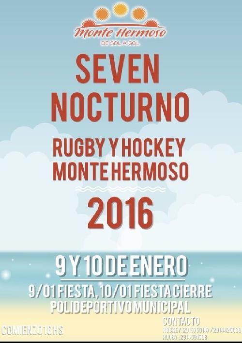 Rugby Local - Club Sarmiento Rugby en el Seven de Monte Hermoso.