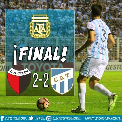 AFA - 1ra División - Atlético Tucumán y Colón igualaron en Santa Fe - Leandro González titular en el Decano.