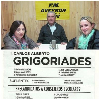 CAMBIEMOS BUENOS AIRES: CARLOS GRIGORIADES, MARIANA CASABONE Y MIRIAM PHILIPP,
