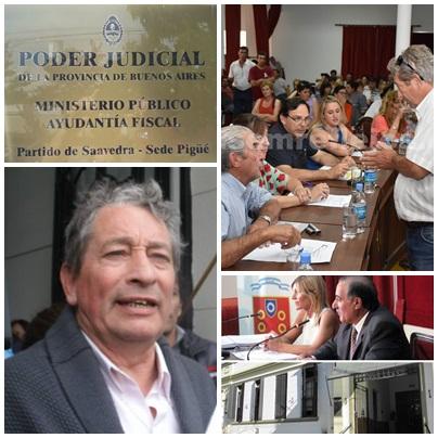 Los concejales  de Cambiemos ante el Agente Fiscal por la amenazas del Secretario del Sindicato de Municipales Nestor Batista