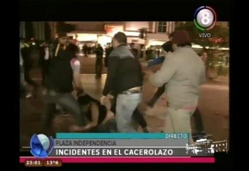 LOS GRUPOS DE TAREAS SIN UNIFORME EN LA PROVINCIA DEL GOBERNADOR K ALPEROVIH - Denuncian que policías sin uniforme reprimieron a los manifestantes