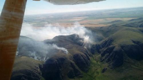 Tornquist: fue controlado el incendio en las sierras