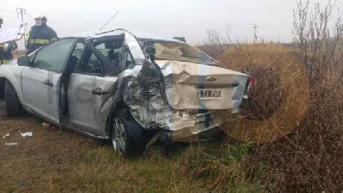 El concejal Ricci y su familia salieron prácticamente ilesos de un violento choque con un camión en la RP 65