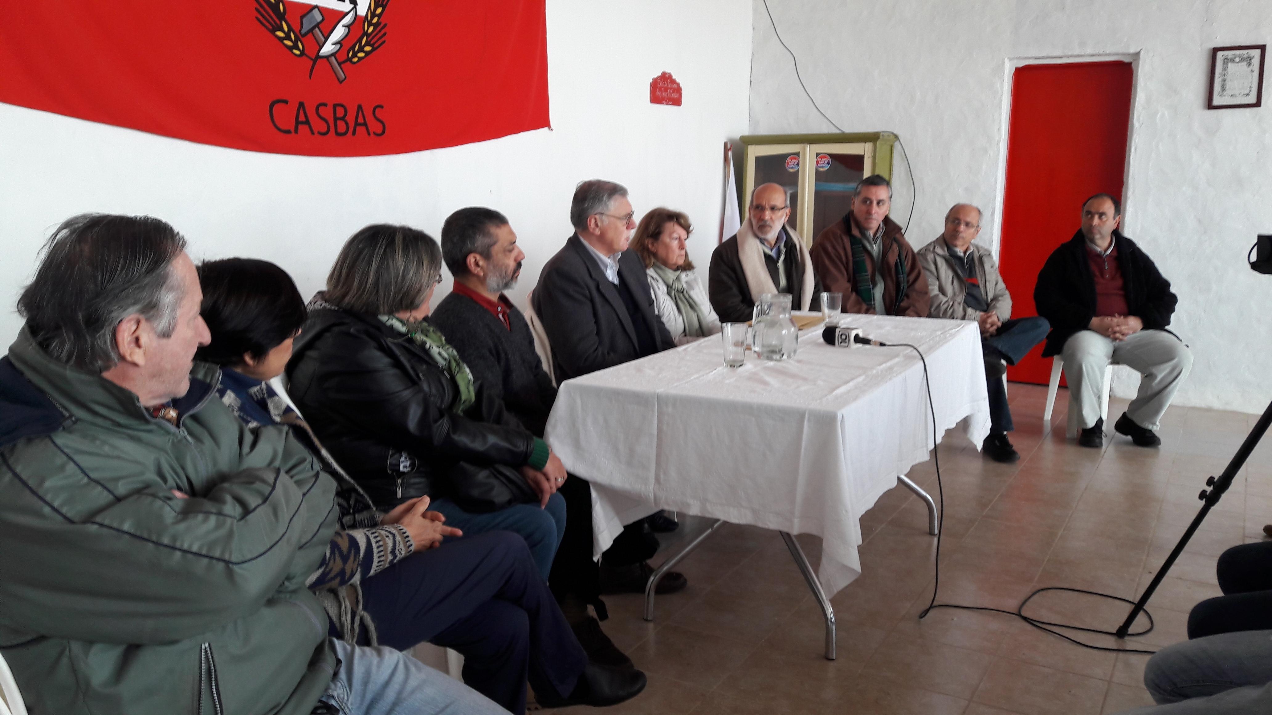 El Senador López recorrió el Distrito de Guaminí