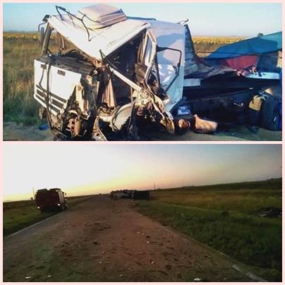 Ruta Nacional 33  KM 103 : choque de camiones con saldo fatal