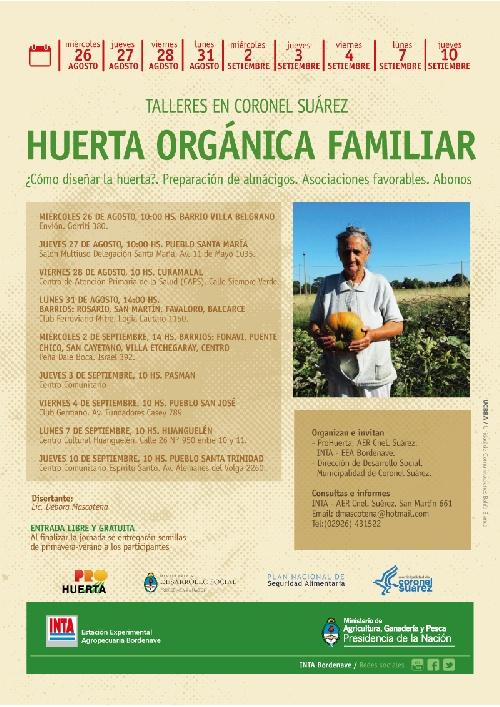 INTA Coronel Suárez: Huerta orgánica familiar