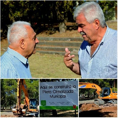El intendente anunció el incio de la obra de la pileta climatizada en el Parque Municipal de Pigüé