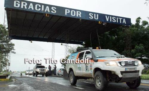 La caravana del Dakar pasa por Formosa rumbo a Asunción.