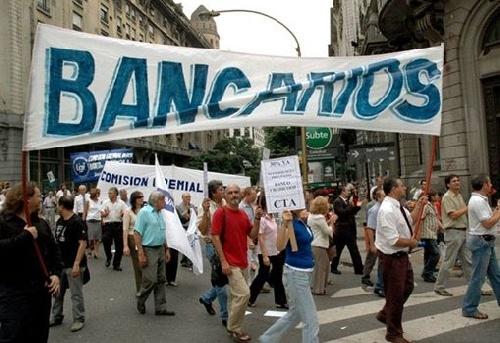 Paro empleados Bancarios: en todo el pais,por 24 hs se cumple hoy. Sin Bco Pcia de Buenos Aires hasta el lunes