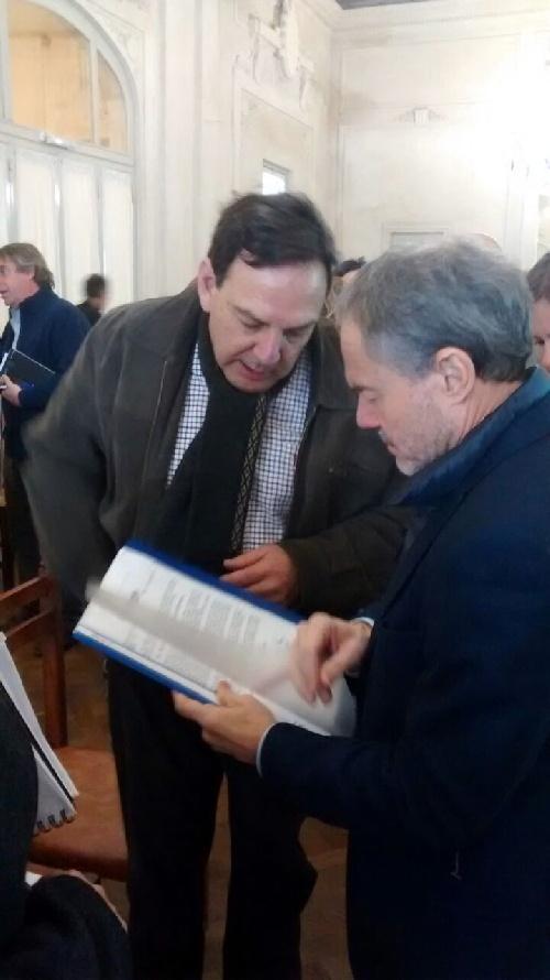El concejal Sevenié se reunió con el ministro de transporte de la Nación por el tren a Saavedra