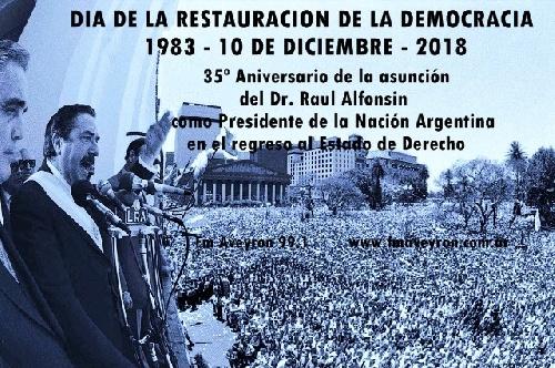 Día de la Restauración de la Democracia - 1983 - 10 de Diciembre - 2018