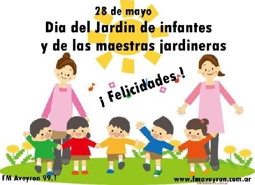 Feliz dia maestras y jardines de infantes