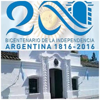 1816 - 9 DE JULIO - 2016 BICENTENARIO DE LA DECLARACION DE LA INDEPENDENCIA ARGENTINA