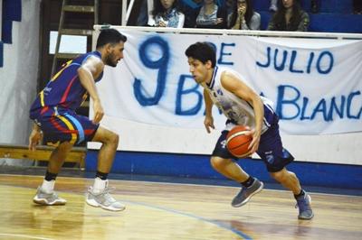 Basquet Bahiense - Bahiense con 20 puntos de Silva cayó ante Nueve de Julio.
